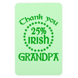 25% Irish - Thank You Grandpa Rectangular Photo Magnet