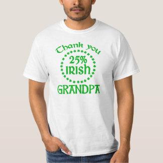 25% Irish - Thank You Grandpa Shirt
