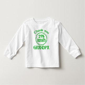 25% Irish - Thank You Grandpa Tee Shirt