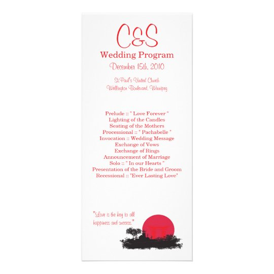 25 Japanese Rising Sun Wedding Programs