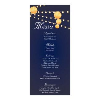 25 linternas de papel de las tarjetas del menú en tarjetas publicitarias a todo color