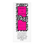 25 Lollipop Topper Hot Pink Zebra Print Rack Card