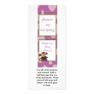 25 Lollipop Topper Jacana PurpleAnimals Rack Card