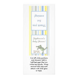 25 Lollipop Topper Leap Frog Turtle Bee Dragonfly Rack Card
