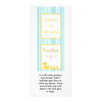 25 Lollipop Topper Rubber Ducky Bubbles Rack Card