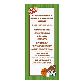 25 Menu Cards All Star Green