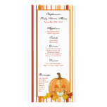25 Menu Cards Autumn Fall Pumpkin Baby