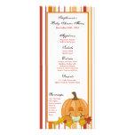 25 Menu Cards Autumn Fall Pumpkin Baby Full Color Rack Card