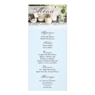 25 Menu Cards Beach Sea Mason Jars Ocean Sea Shell