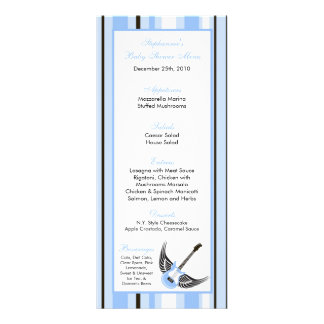 Baby Shower Menu Rack Cards | Zazzle
