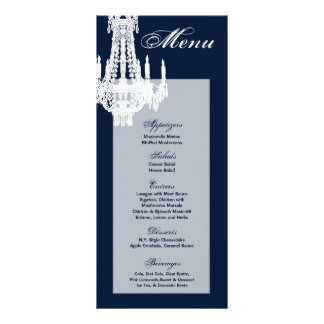 25 Menu Cards Crystal Chandelier Glitz Glamour Dia