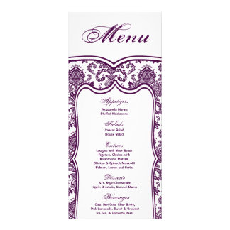 25 Menu Cards Damask Lace Print Pattern Fabric