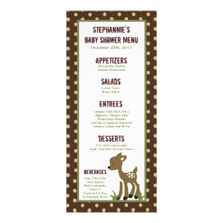 25 Menu Cards Enchanted Hollow Forest Woodland Custom Rack Cards