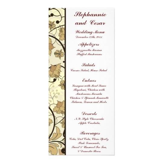25 Menu Cards Fall Floral/Branches nature autumn