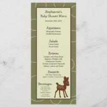 25 Menu Cards Forrest Animal Owl Deer Bird Porcupi