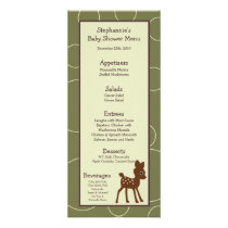 25 Menu Cards Forrest Animal Owl Deer Bird Porcupi
