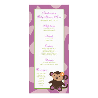 25 Menu Cards Jucana Purple Animals