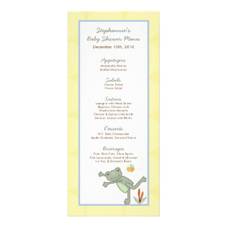25 Menu Cards Leap Frog Turtle Bee Dragonfly Pond