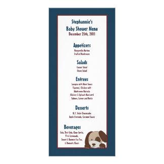 25 Menu Cards Lil League Puppy Dog Sports