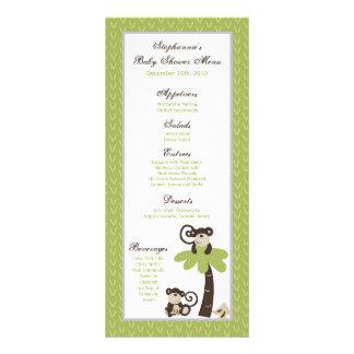 25 Menu Cards Monkey Time Zoo Animal