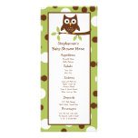 25 Menu Cards Woodland Friends Owl Rack Card Template
