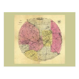 25 millas alrededor de Minneapolis - mapa 1881 Postales