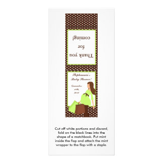 25 Mint Matchbooks Green Mod Mom Polka Dots Rack Card