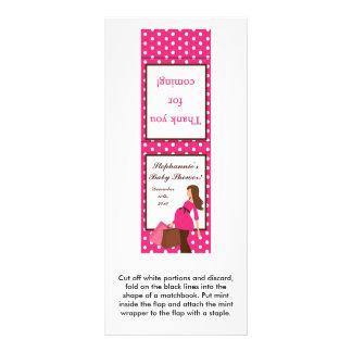 25 Mint Matchbooks Pink Mod Mom Polka Dots Rack Card