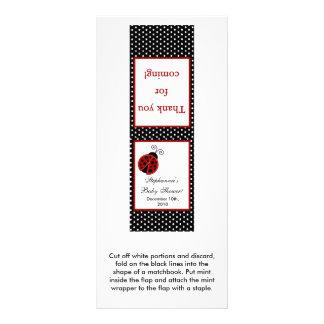 25 Mint Matchbooks Red Ladybug Rack Card