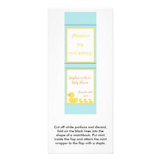 25 Mint Matchbooks Rubber Ducky Bubbles Rack Card