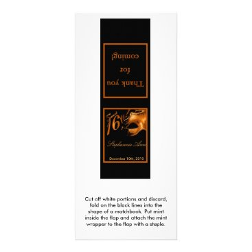 Halloween Themed 25 Mint Matchbooks Sweet 16 Orange Black Rack Card