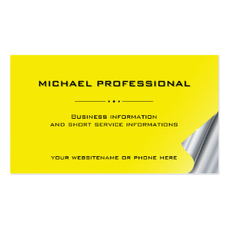 25 Modern Professional Business Card silver yellow