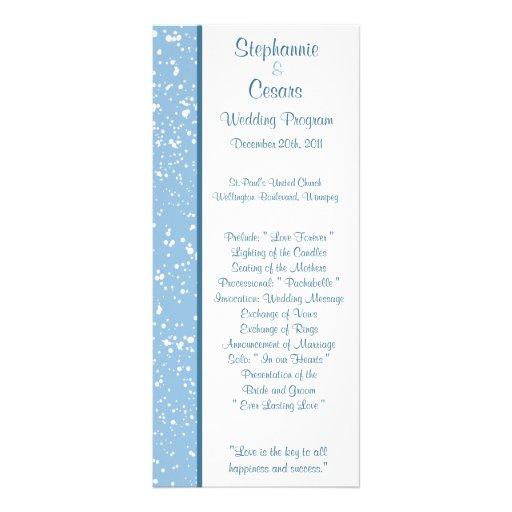 25 navidad del azul del invierno del programa del  tarjeta publicitaria a todo color