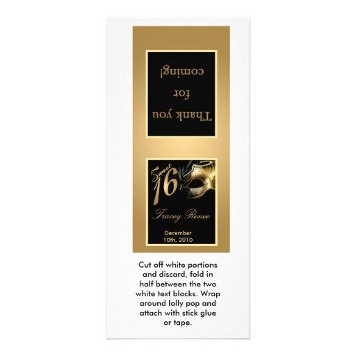 25 negro del oro del dulce 16 del primero del Loll Diseños De Tarjetas Publicitarias