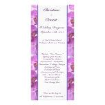 25 orquídeas púrpuras del programa del boda 4x9 en tarjetas publicitarias personalizadas