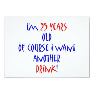 25 otros bebida invitación 12,7 x 17,8 cm