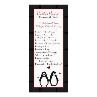 25 pares del amor del pingüino del programa del bo lona publicitaria