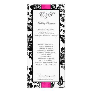 25 programas florales del boda del damasco del neg tarjetas publicitarias