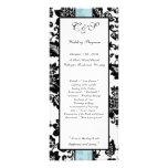 25 programas florales negros/azules del boda del d tarjetas publicitarias personalizadas