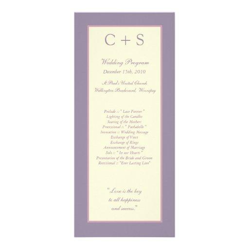 25 programas púrpuras elegantes del boda lonas personalizadas