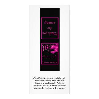 25 rosas fuertes del dulce 16 de los Matchbooks de Lona