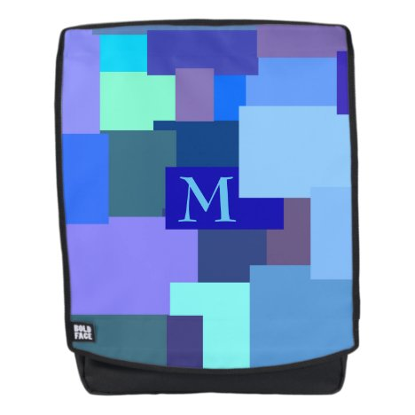 25 Shades Of Blue -your monogram Backpack