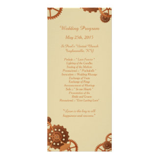 25 Steampunk Cogs and Gears Wedding Programs