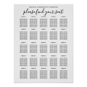 wedding guest seating chart