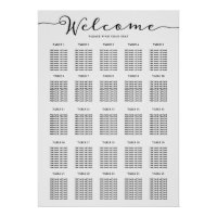 25 Table Seating Chart Find your Seat Welcome