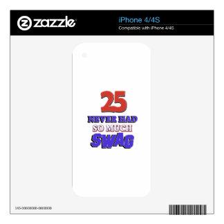 25 tanto diseños nunca tenidos del Swag Calcomanías Para El iPhone 4S