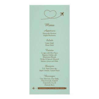 25 tarjetas azules del menú del boda del corazón tarjeta publicitaria