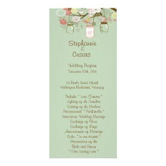 25 tarros de albañil florales de la primavera del  tarjeta publicitaria