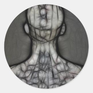 25 - The Silken Skin Round Sticker