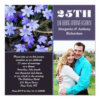 25 tinvitations hermosos weddinganniversary de la invitación 13,3 cm x 13,3cm